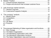 Marketing & Sales Structure
