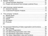 Marketing & Sales Structure